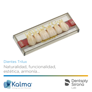 Dientes Trilux de Dentsply Sirona Lab, por Kalma