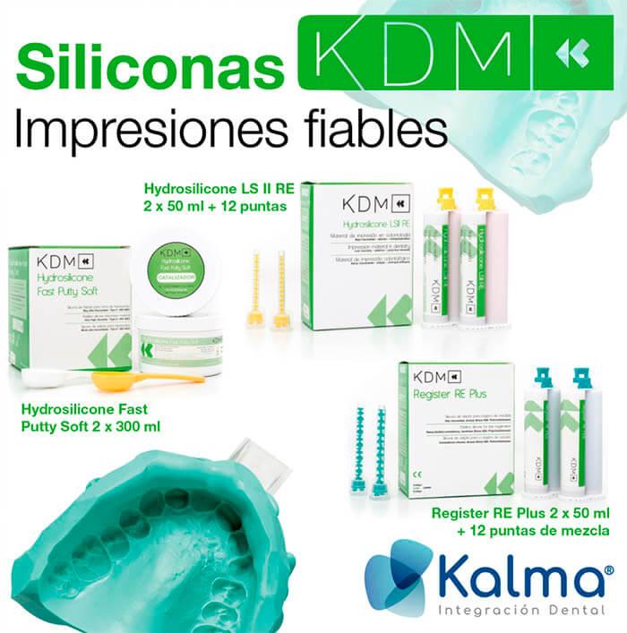 KDM siliconas para registro de mordidas