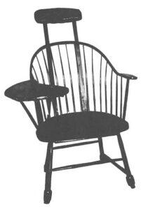 sillón dental de madera