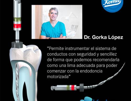 El Dr. Gorka López nos cuenta su experiencia con las limas Procodile y el motor Endopilot, ambos de Komet