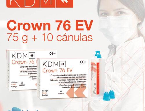 ¿Qué beneficios clínicos tiene el composite KDM Crown 76 EV?