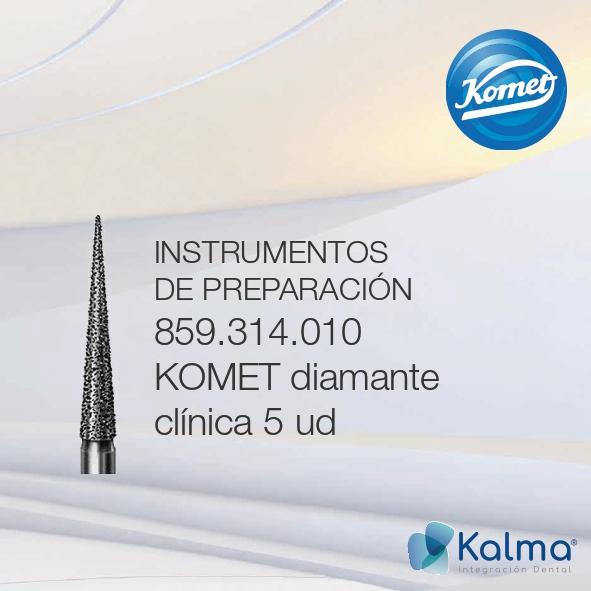 fresa de diamante Komet instrumentos de preparación