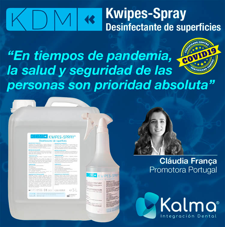 Desinfectamnte para superficies KDM Kwipes spray