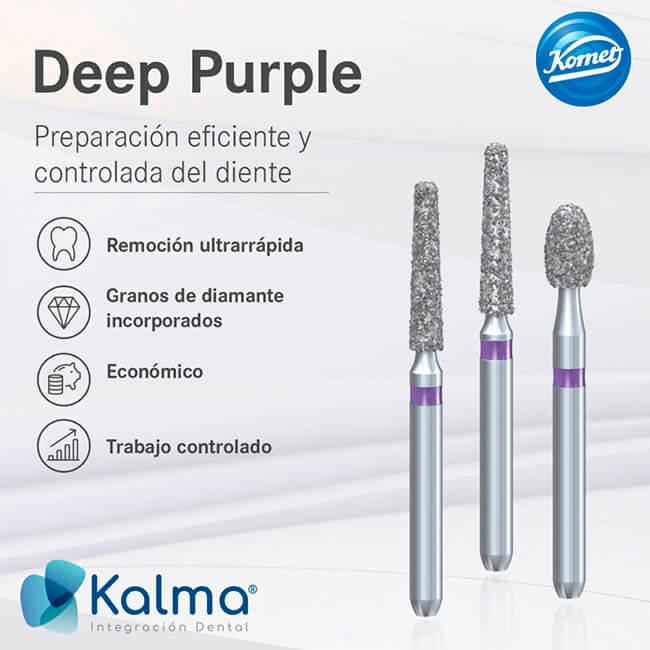 Deep purple fresas dentales komet