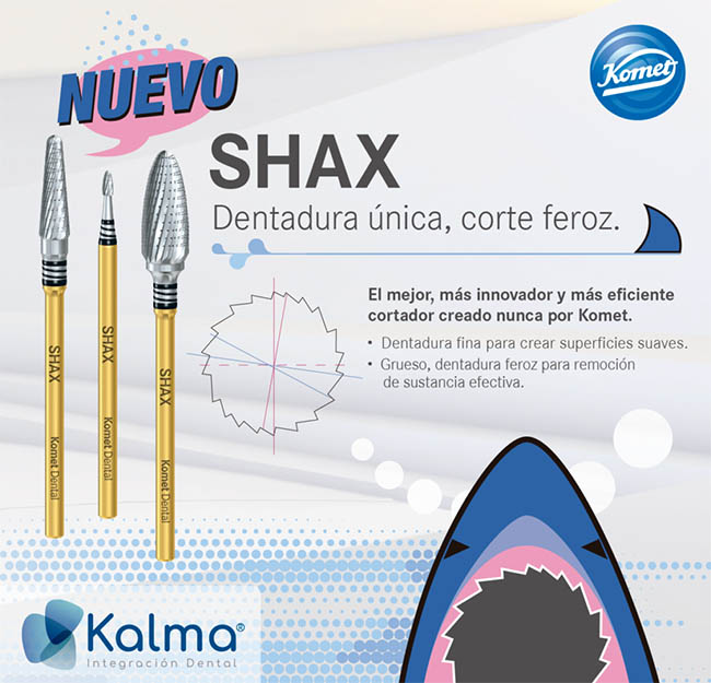 Nueva fresa dental para cortar metal shax de Komet